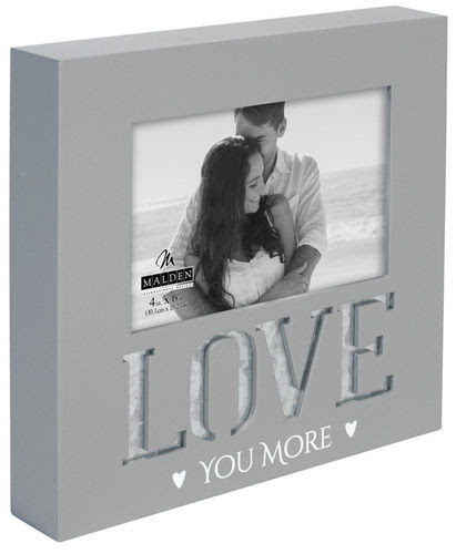 Love You More 4x6 Gray Photo Frame Athena Posters