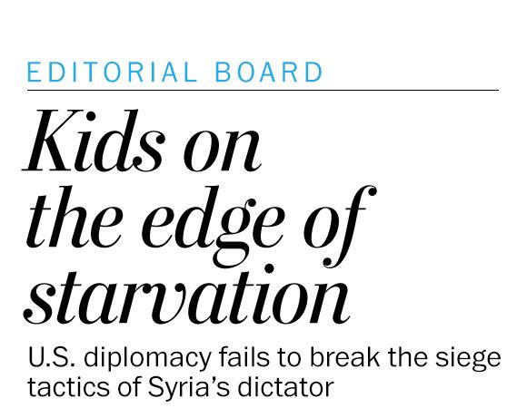 Children on the edge of starvation