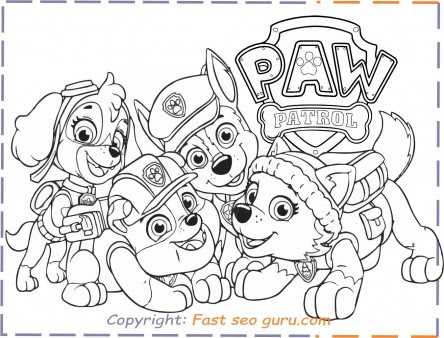 400 Top Coloring Pages For Paw Patrol  Images