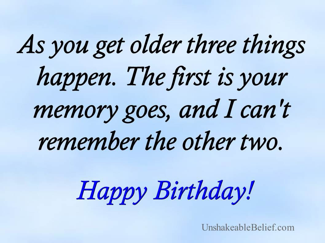 Quotes About Getting Old On Birthday 43 Quotes