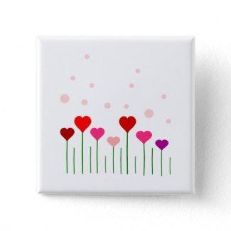 Love Heart Field Pins