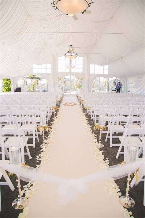 gorgeous white wedding aisle decor ~ we this