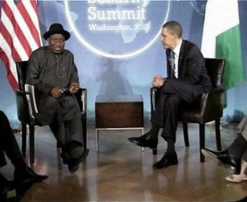 Federal Republic of Nigeria President Goodluck Jonathan holding talks with US President Barack Obama. The Christmas 2011 bombings in Nigeria may provide greater openings for Pentagon intervention. by Pan-African News Wire File Photos