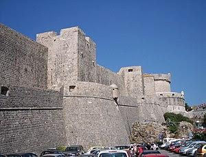 English: Walls of Dubrovnik (Croatia). Françai...