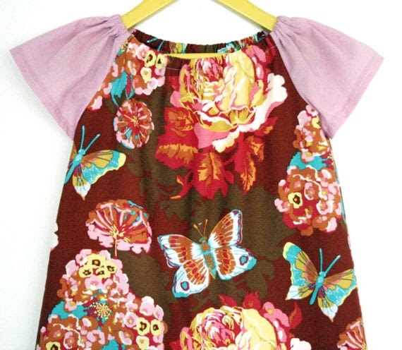 Butterfly Breeze Peasant Dress & Top INSTANT DOWNLOAD PDF Sewing Pattern for Toddlers and Girls: Sizes 1-8