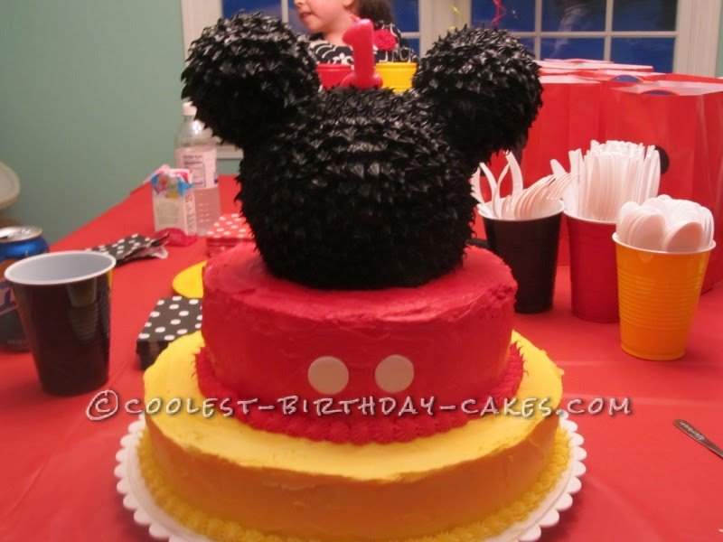 1st Birthday Cake For My Daughter Who Loves Mickey Mouse