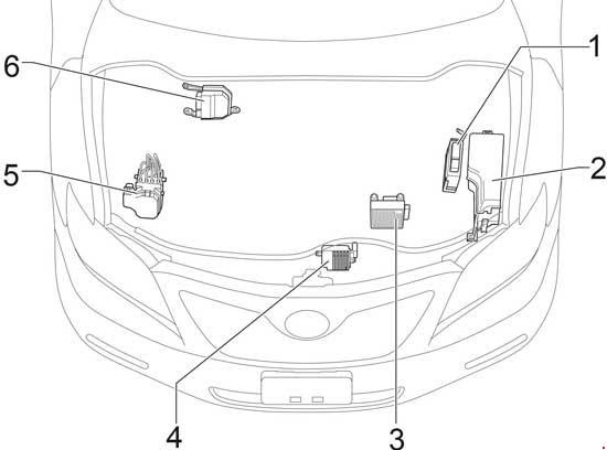 07 11 Toyota Camry Xv40 Fuse Diagram