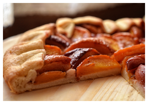 peach and semolina crostata© by Haalo