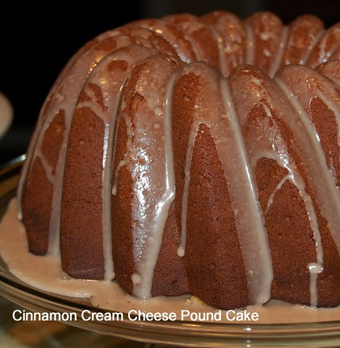 Cinnamon Cream Cheese Pound Cake