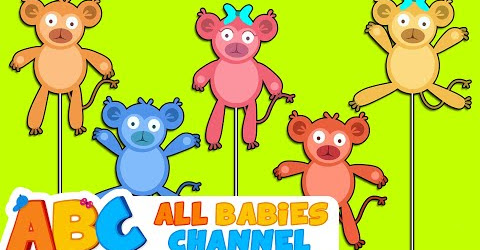 Five Little Monkeys Jumping On the Bed Nursery Rhyme for Babies