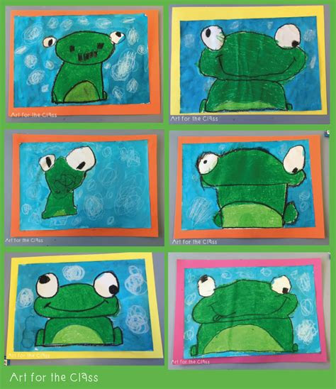 week  class   adorable frog artworks