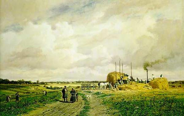 Einführung von Dreschmaschinen auf dem Land (1882)