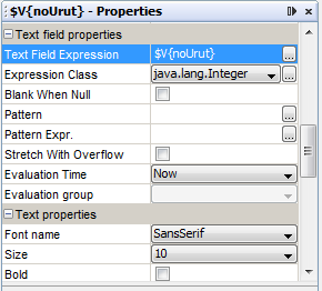 text field properties