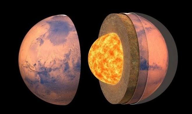 Ученые составили первую подробную карту внутреннего строения Марса