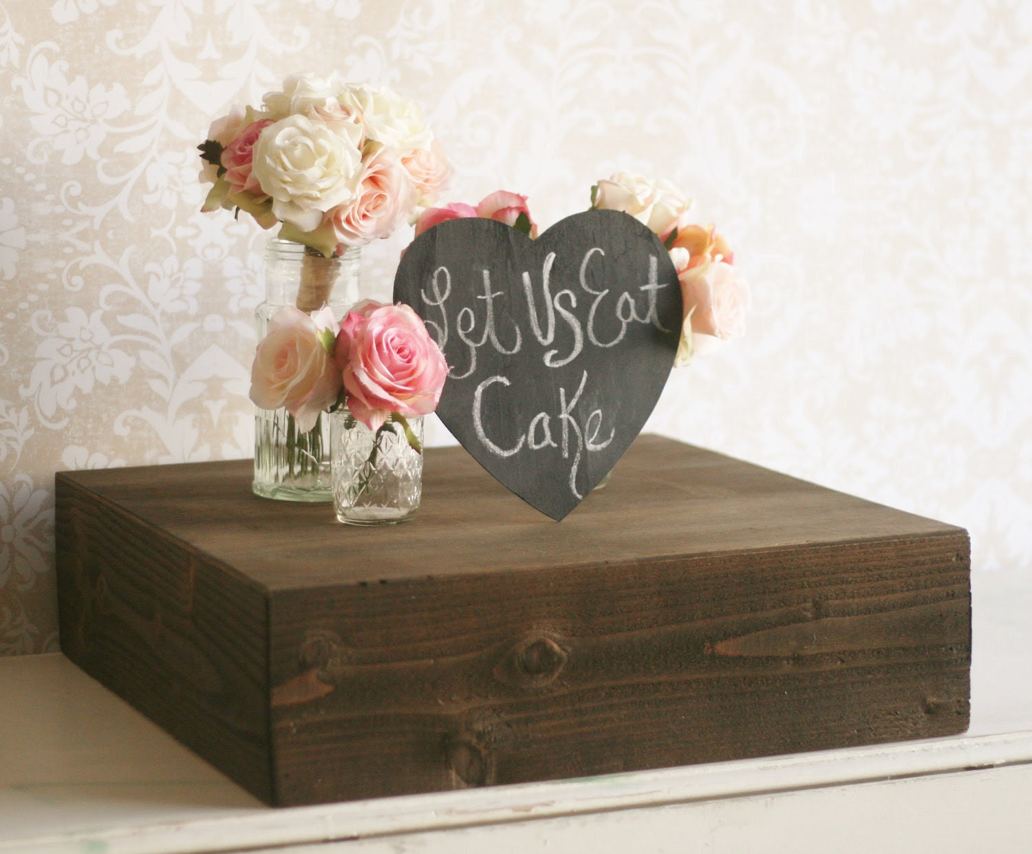 Rustic Wood Cake Stand Country Barn Wedding Decor