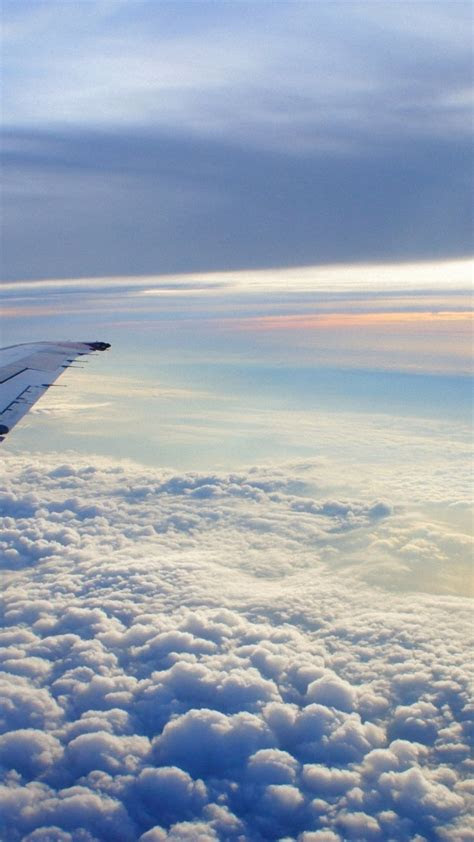 wallpaper iphone clouds airplane wing flying iphone