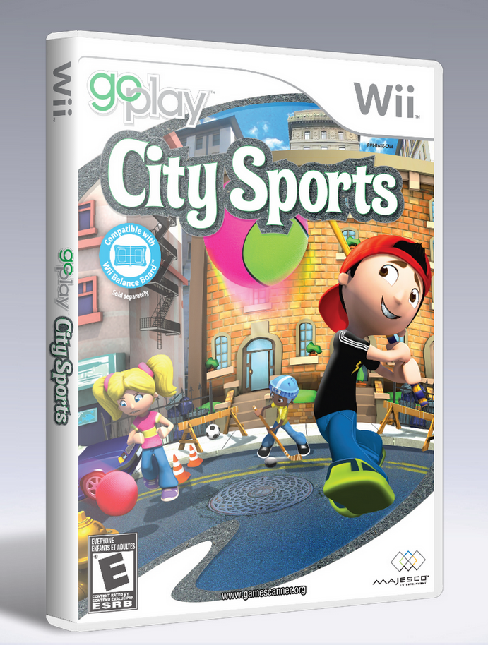 Go Play City Sports Nintendo Wii cover template