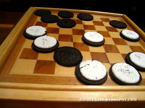 oreo checkers close up 2