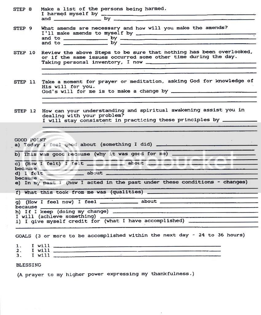 29 Aa 10th Step Worksheet   Free Worksheet Spreadsheet