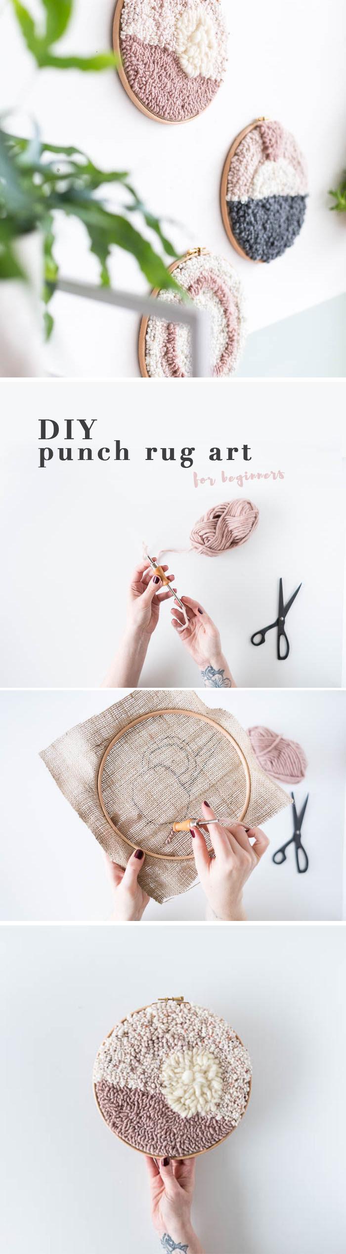 Diy Punch Rug Artwork For Beginners Tutorial Fall For Diy