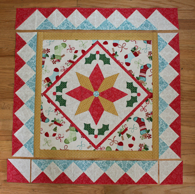 pieced border placed