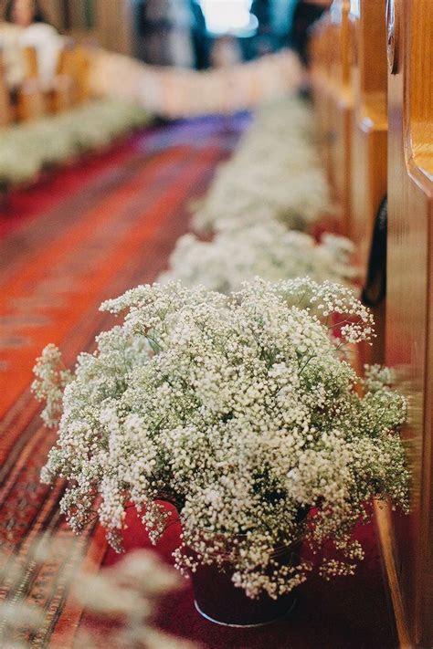 Church Wedding Baby's Breath Aisle Decor, flower wedding