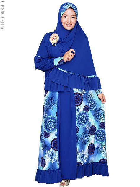 contohgambar baju gamis muslimah yg  trend elneddy