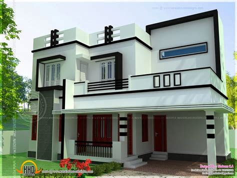 bedroom house plans flat roofs residential house plans