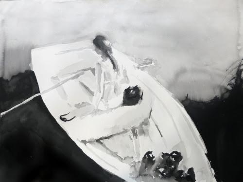 Rikki KassoSimply Silent (Australia). 2012sumi ink on paper56.7 x 76.9cm VIA
