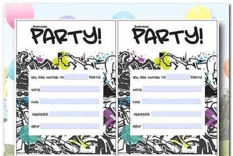 12 Year Old Birthday Party Invitations
