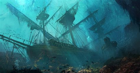 sinking ships ship drawing sea fantasy art wallpapers