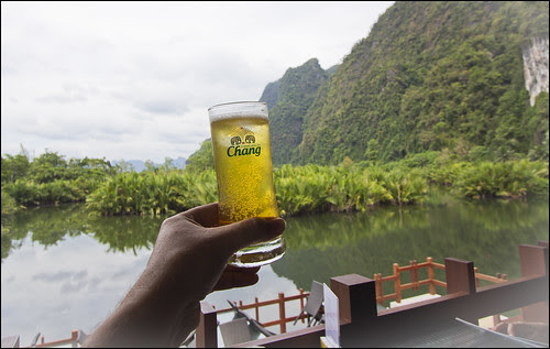 Cheers! At Dairy Hut Seafood, Phang Nga