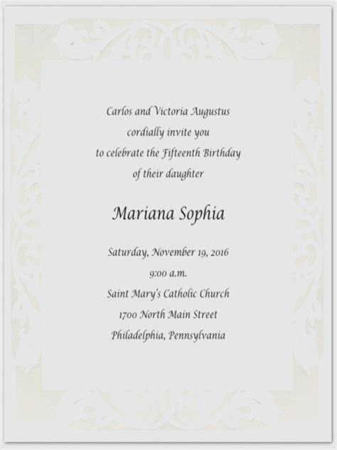 hispanic quinceanera invitation wording  spanish party