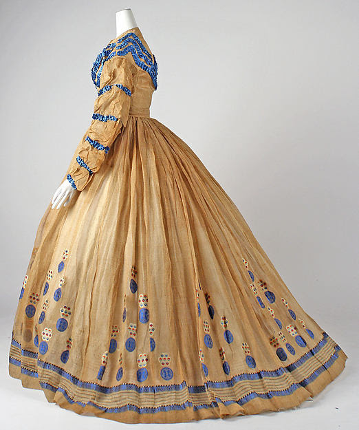 c.1865 cotton dress from The Met.