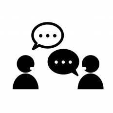 会話する2人シルエット イラストの無料ダウンロードサイトシルエットac