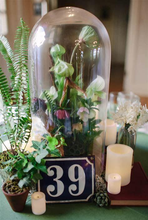 Chateau Bellevue Winter Wedding // Unique Bell Jar Floral