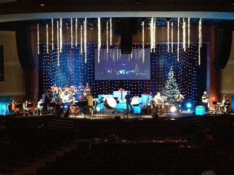 Small Church Stage Design   Falling Stars   Church Set and