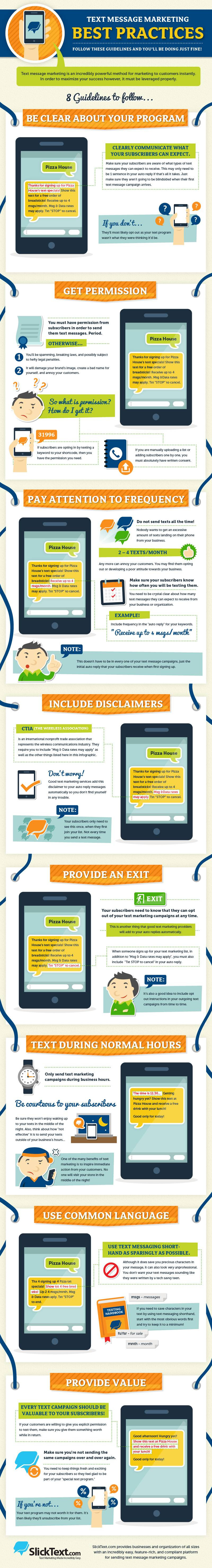 Infographic: Text Message Marketing Best Practices