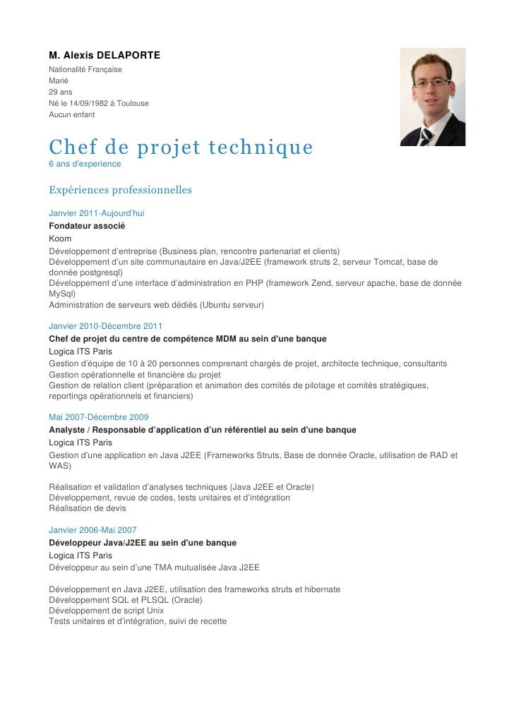 exemple cv programmeur informatique