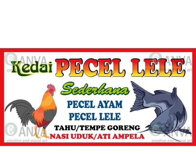 Contoh Baliho Pecel Lele - desain spanduk kreatif