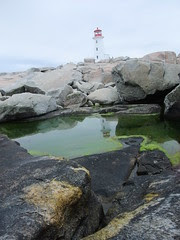 Peggy's Cove lighthouse reflection