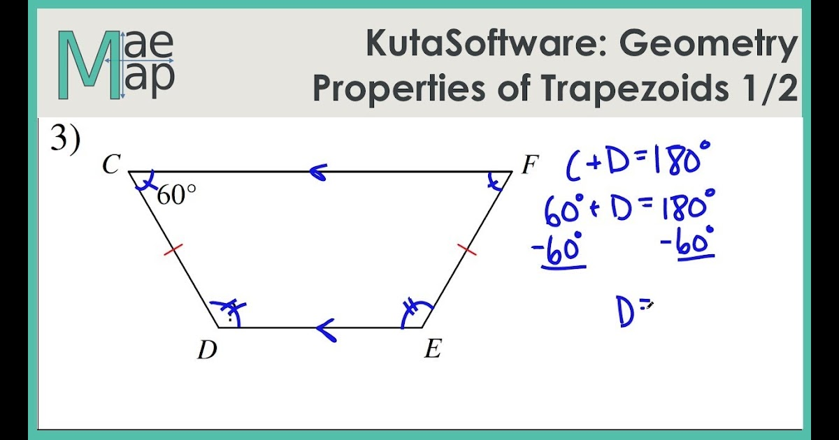Kuta Software Infinite Geometry Properties Of Trapezoids Answers