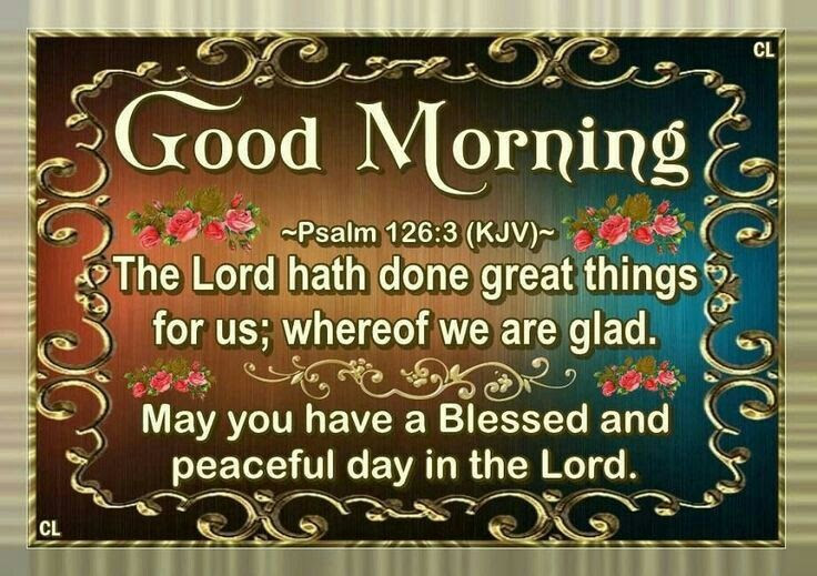 Good Morning May You Have A Blessed And Peaceful Day In The Lord