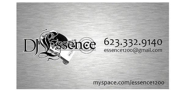dj essence business card design