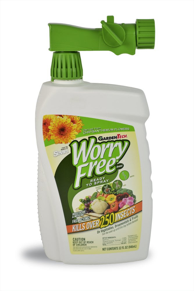 Amazon.com : Worry Free Brand Insecticide and Miticide Concentrate ...