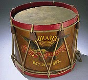 Drum carried by John Unger, Company B, 40th Regiment New York Veteran Volunteer Infantry Mozart Regiment, December 20, 1863