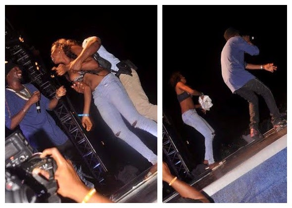 Lady Strips For 2face In Front Of Wife Annie Idibia [See Photos]