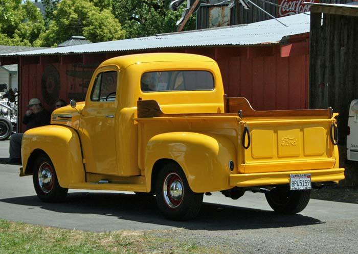 Yellow F-1 Rear
