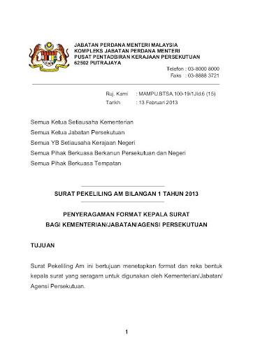 Contoh Surat Rasmi Kepada Menteri Besar Negeri Sembilan Surat Rasmi R