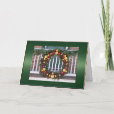 Williamsburg Fruit Wreath Card card